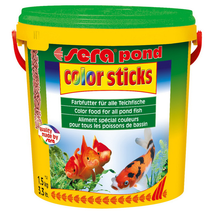 Sera Pond Color Sticks Havuz Balığı Sticks Renk Yemi 10 l